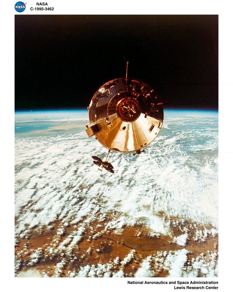 Endeavour in Earth orbit