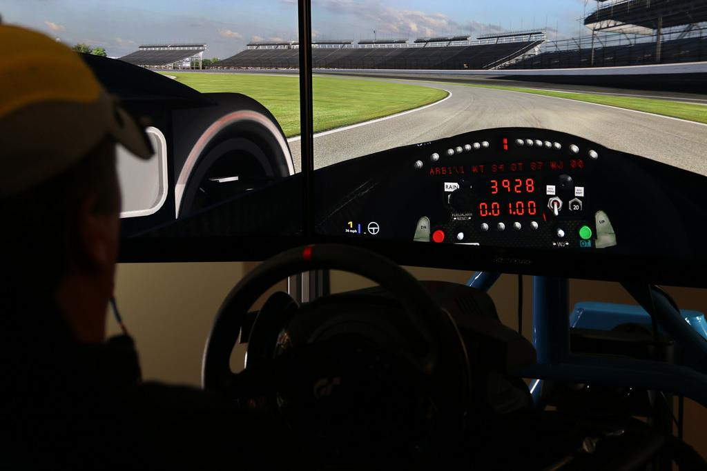 Dashboard of a simulated racetrack being driven by the SAM Project hardware {Photo: Ball Aerospace)