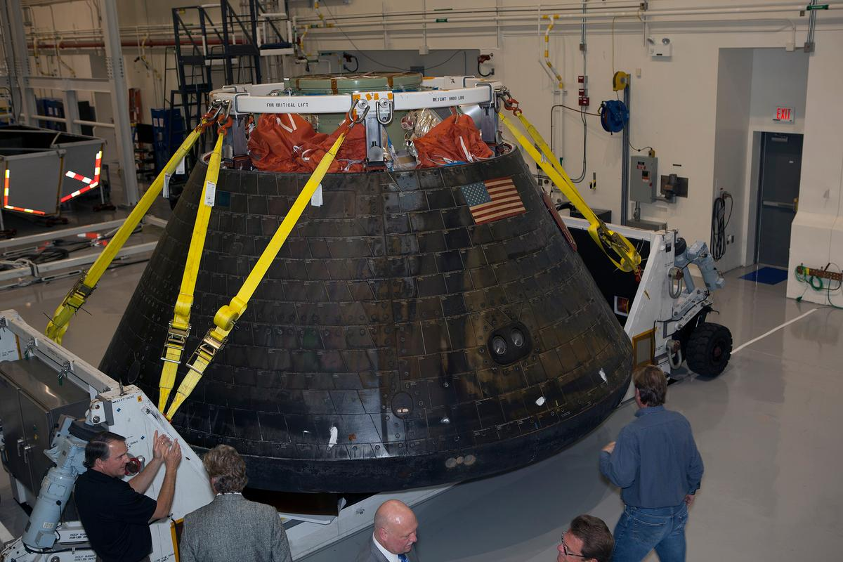 Orion has returned to the Kennedy Space Center of dismantling and analysis (Image: NASA/Dimitri Gerondidakis)