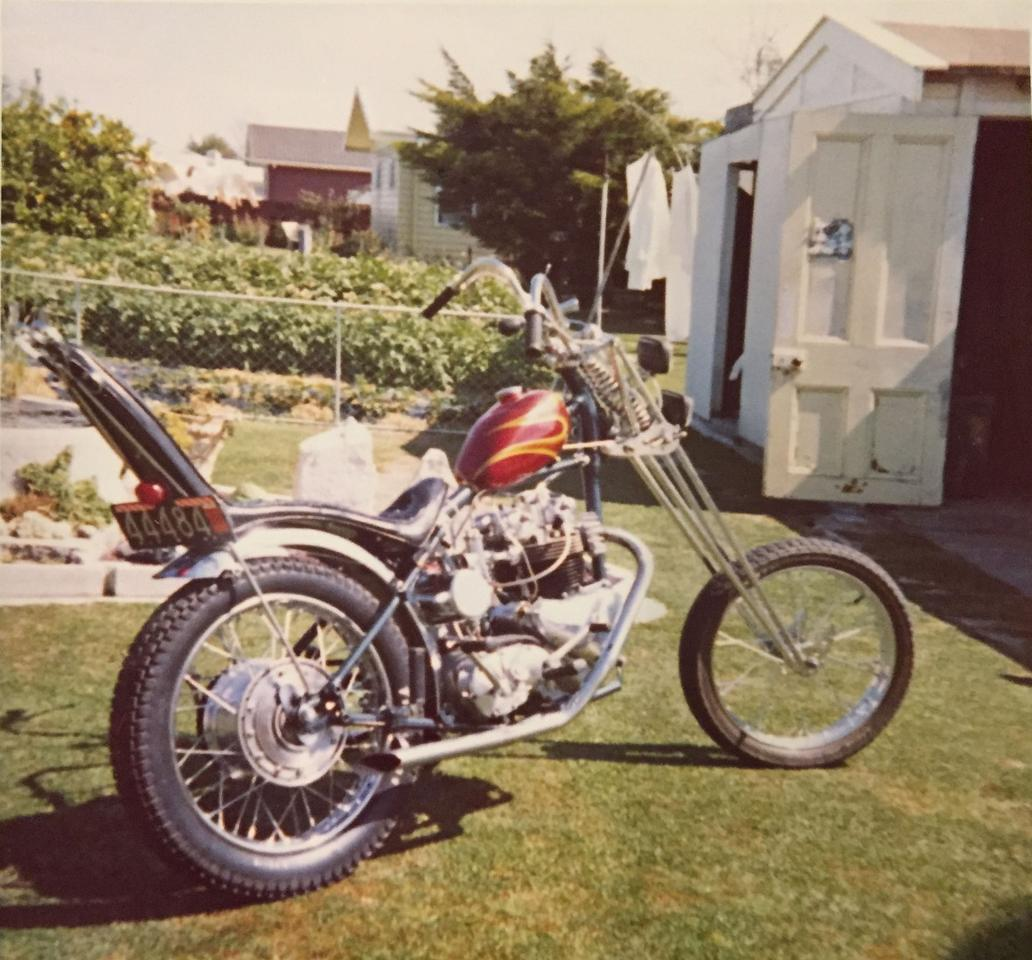 Gordon's first chopper, inspired by the movie Easy Rider
