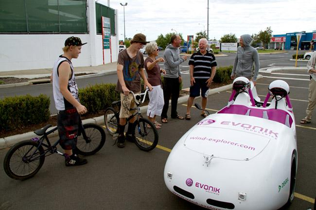 The Wind Explorer attracted a crowd wherever it went