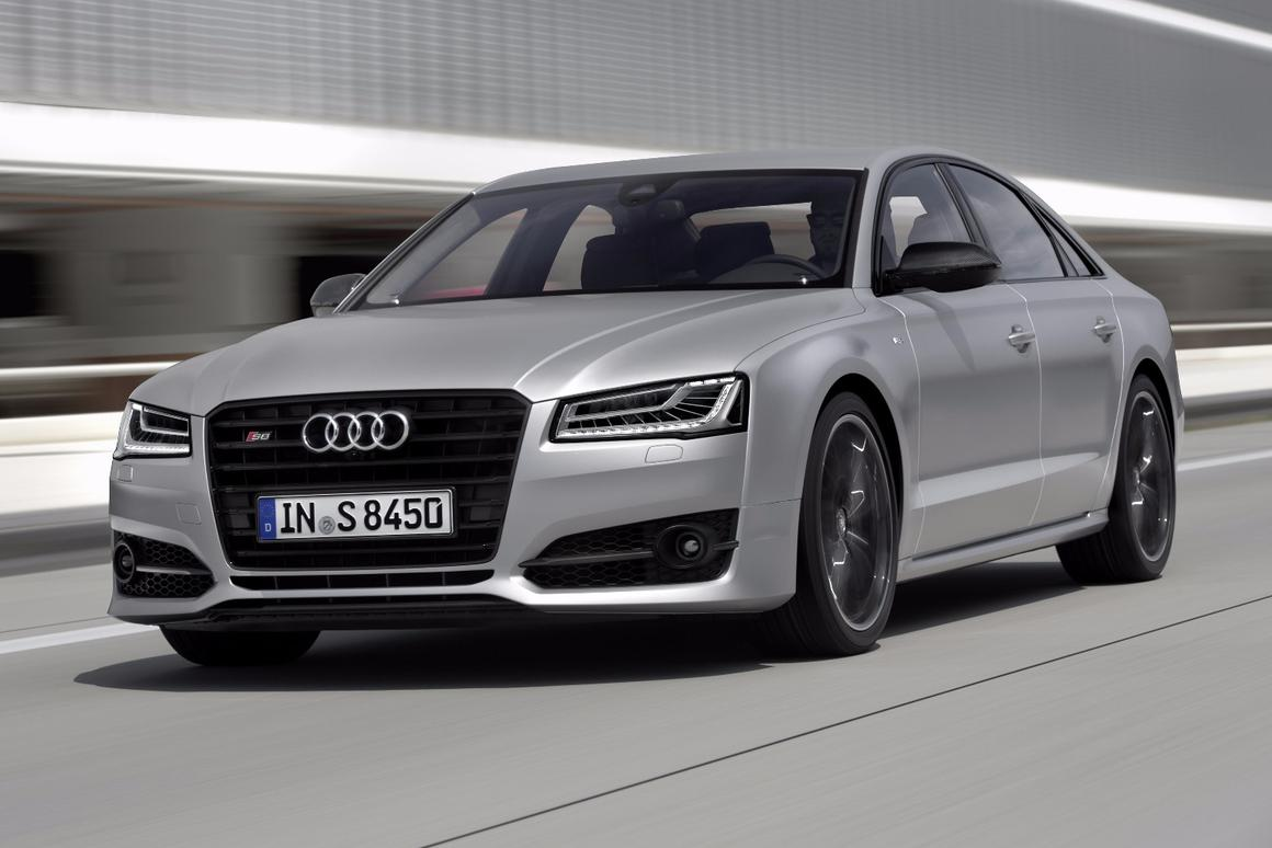 The new Audi S8 plus has a 4.0 TFSI V8 biturbo engine