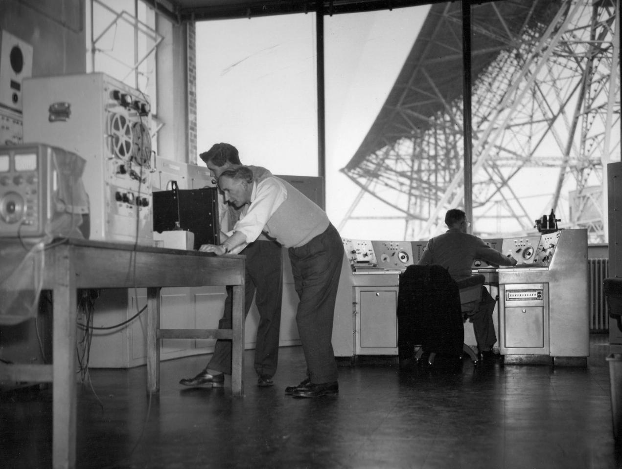 The control room of Jodrell Bank Observatory, where the Zond 6 audio was recorded