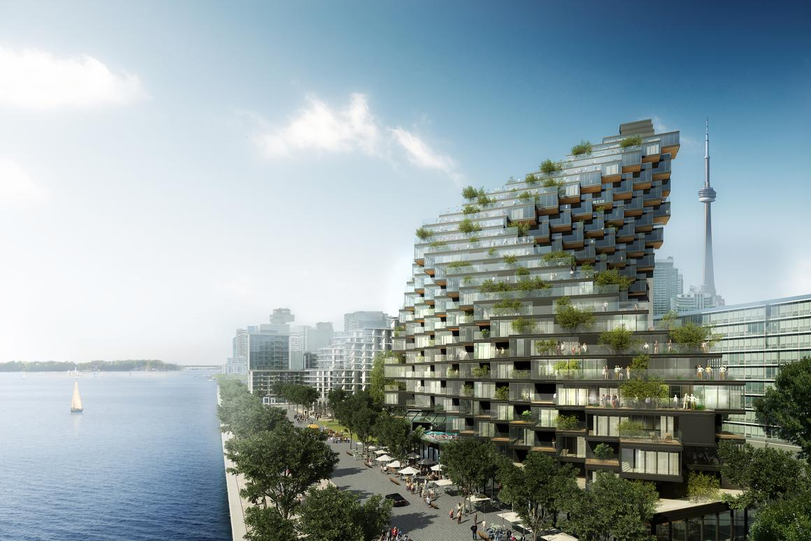 The building is envisioned for Toronto, Canada's Lakeshore region and would rise to 24 floors