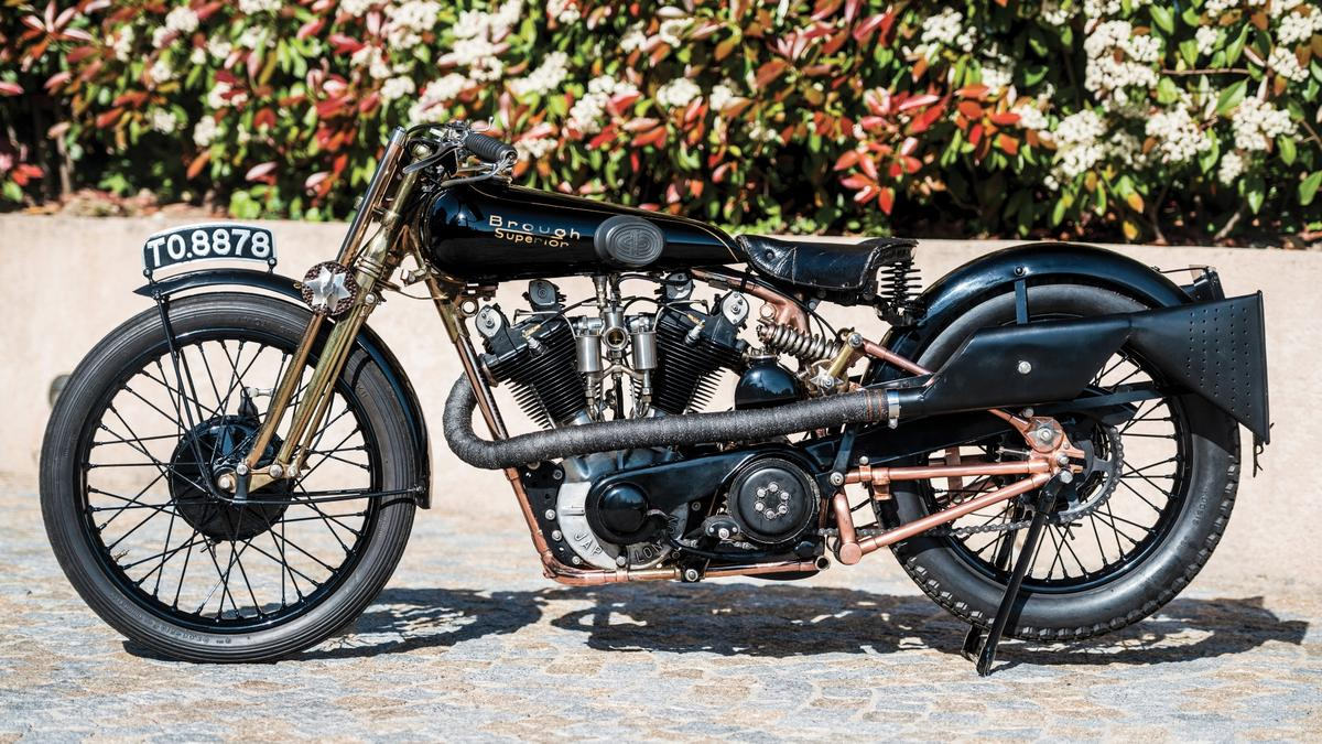 """The Brough Superior SS100, nicknamed """"Moby Dick"""" byMotor Cycling(UK) magazine in 1931, went to auction at Villa Erba andwe expected it to shuffle it's way back to the top of the listings.The last time the bike went to auction it was sold by Bonhams for £210,500 (US$333,210) in 2011, becoming one of the top 10 most valuable motorcycles ever sold. This time around, Moby Dick was estimated by auctioneers RM-Sothebys to sell for between EUR€500,000 and EUR€700,000 (US$550,000 to US$770,000), but it failed to make reserve and was passed in. The high bid was €420,000 (US$469,590)Auction Link"""