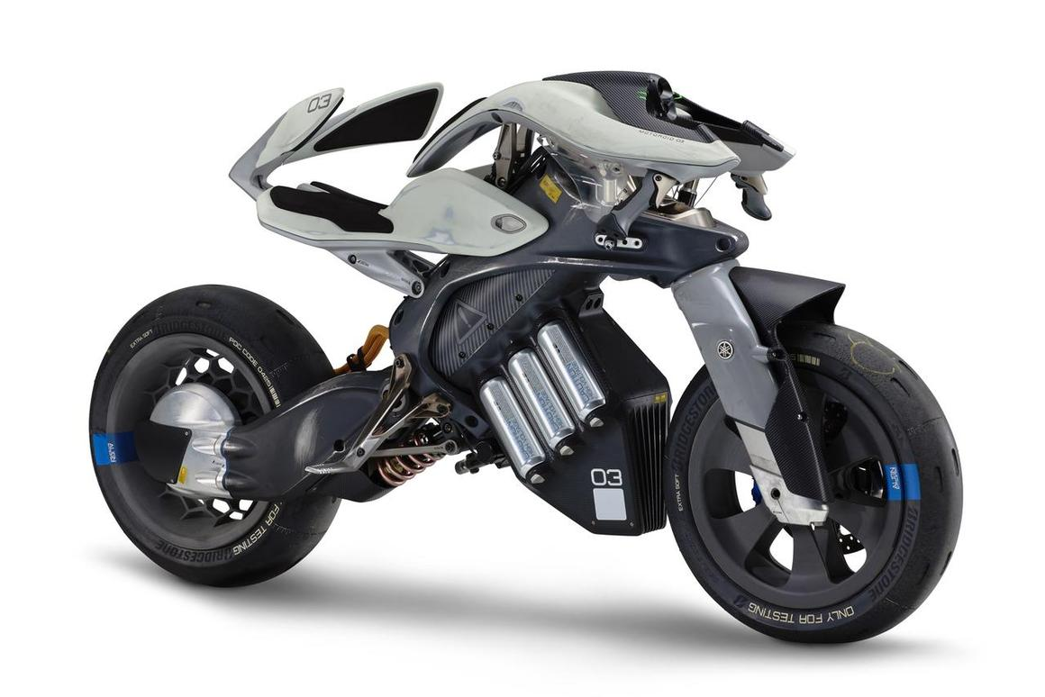 The Yamaha Motoroid concept showcases the application of artificial intelligence to a motorcycle