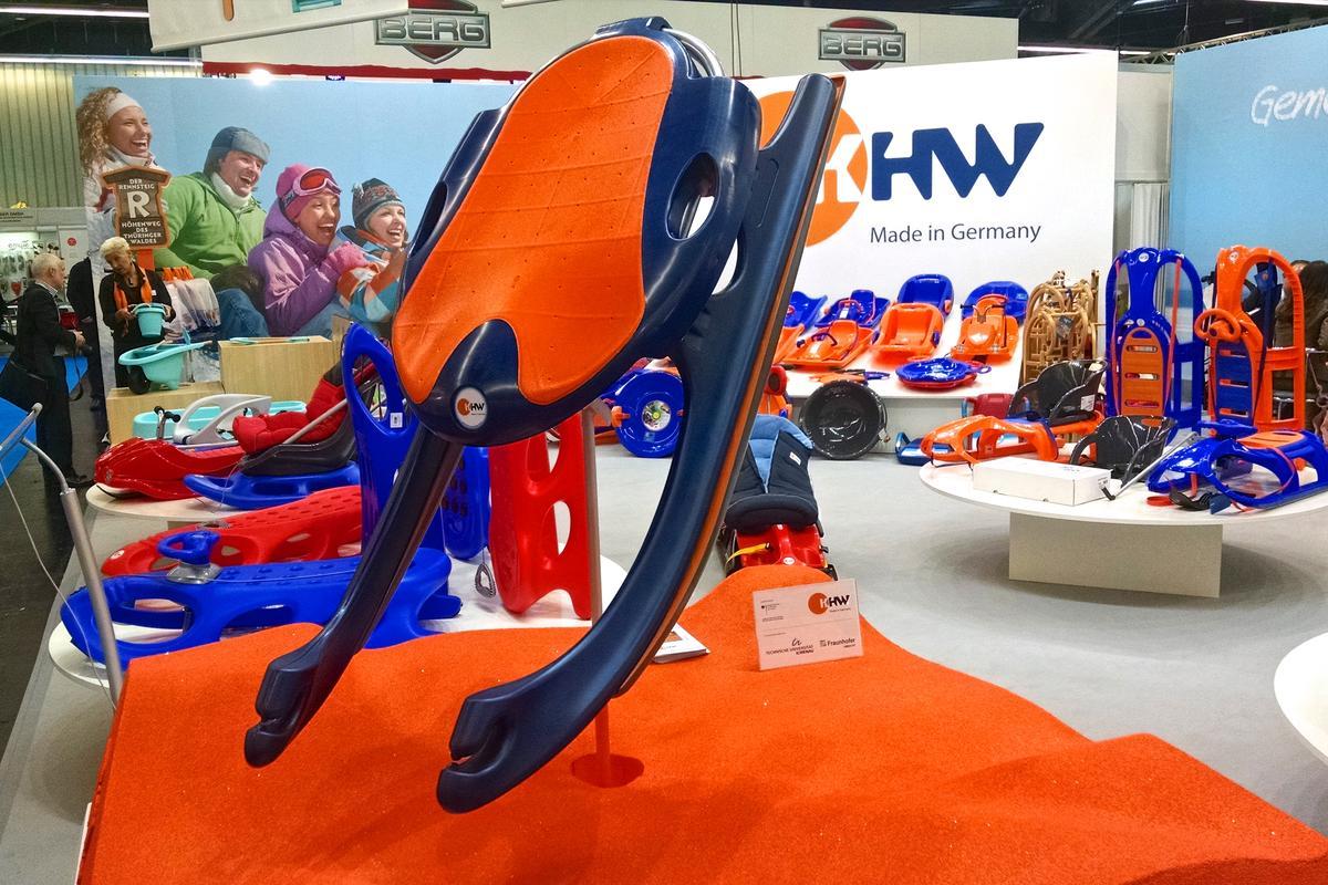 KHW shows its new desert toboggan at the 2015 Nuremberg International Toy Fair (Spielwarenmesse) (Photo: C.C. Weiss/Gizmag)