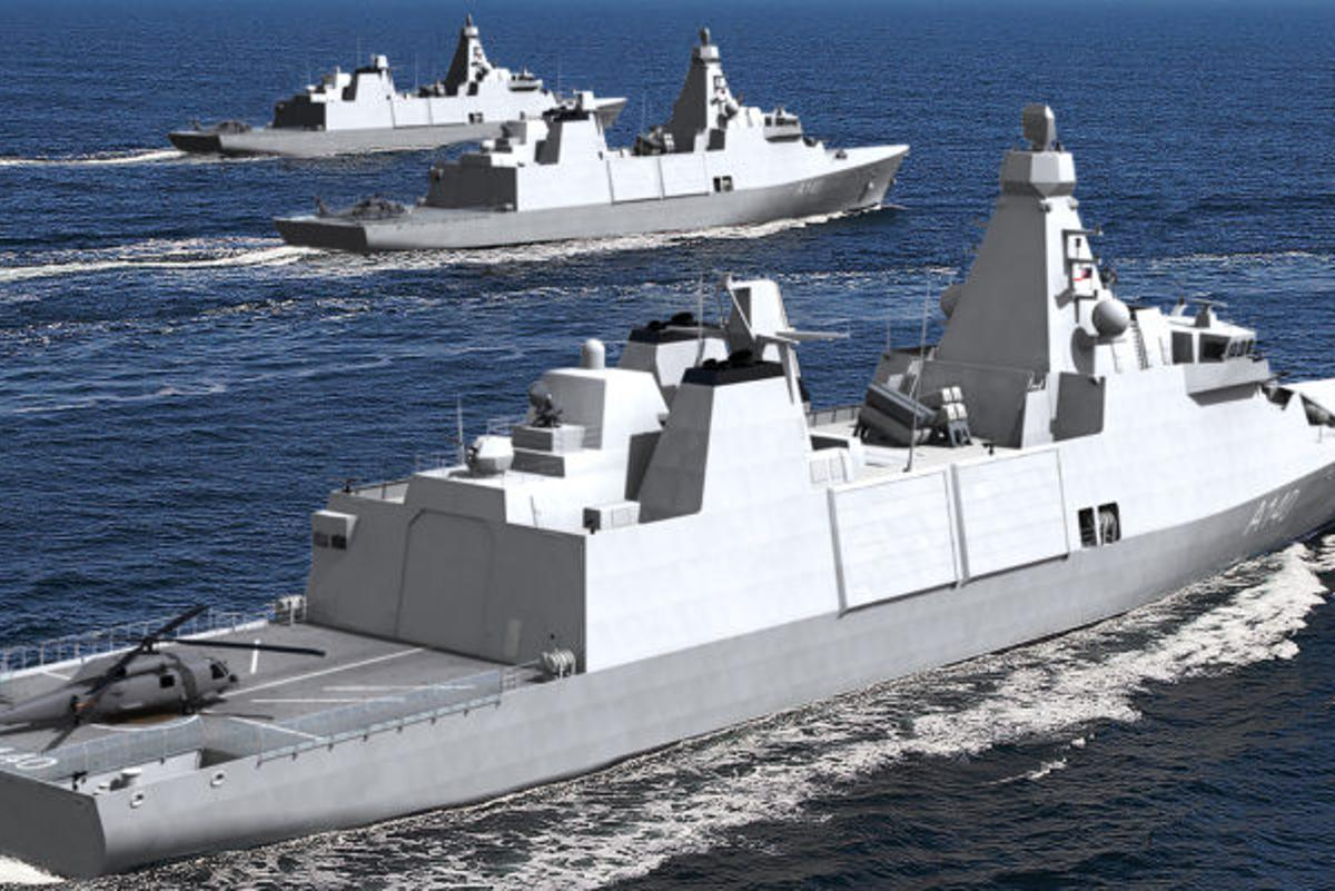 Artist's concept of the Type 31 frigate