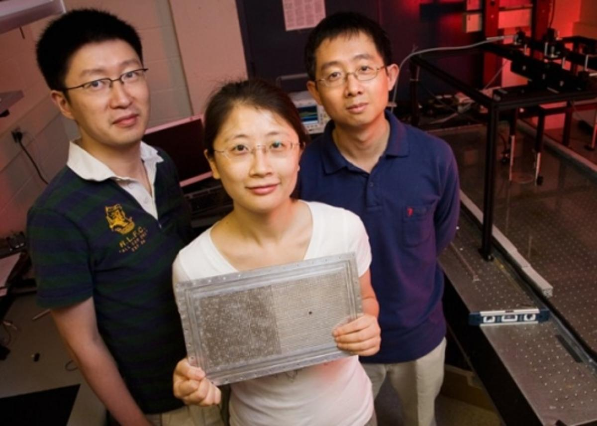 The team at University of Illinois is responsible for advancements in acoustic imaging which could have many applications. Photo: L. Brian Stauffer