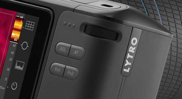 The Lytro Illum has a minimalist button and dial layout which can be used to adjust various settings