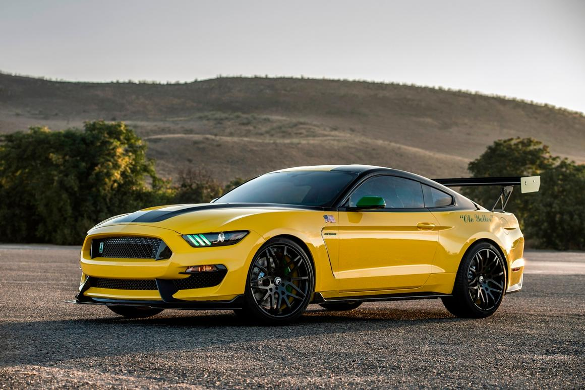 "The ""Ole Yeller"" Mustang is based on the Shelby GT350 Mustang"