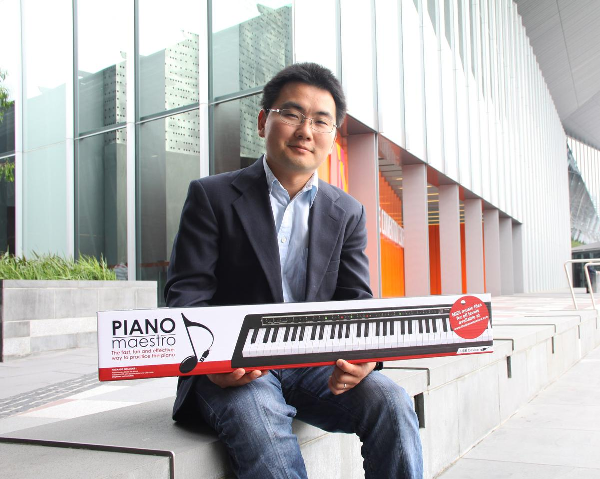 Ken Ihara with his PianoMaestro creation