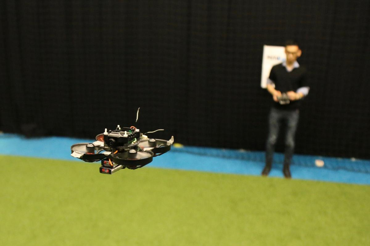 The autonomous racing drone developed at TU Delft weighs just 72 g