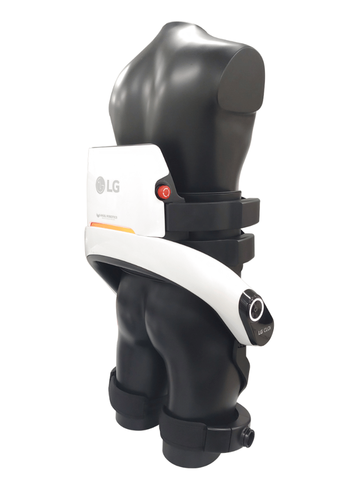 The CLOi SuitBot no longer provides full leg support, but has a thigh strap for each leg
