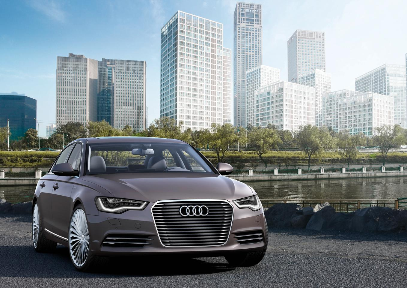 The Audi A6 L e-tron concept is the first luxury-class e-tron concept vehicle