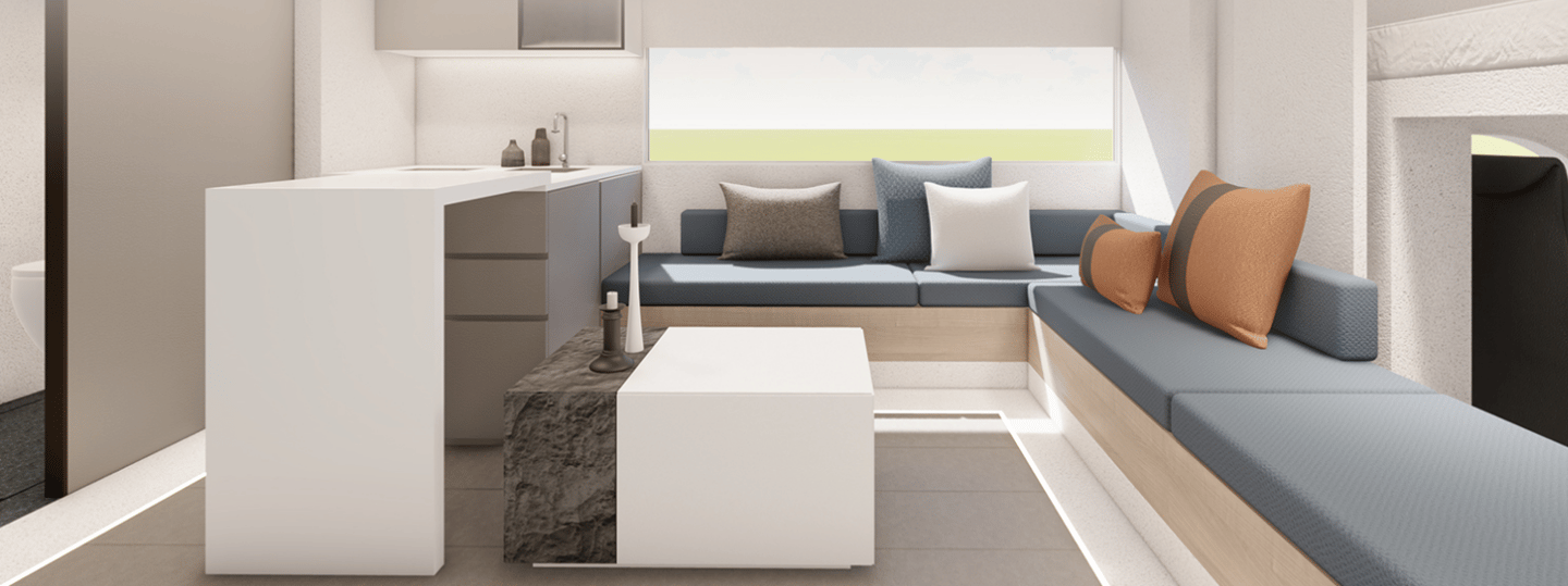 SAIC Maxus creates a large, comfortable living area by expanding the space with driver- and passenger-side slide-outs
