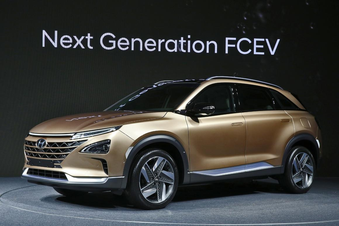 Hyundai will release the production version of its fuel cell SUV