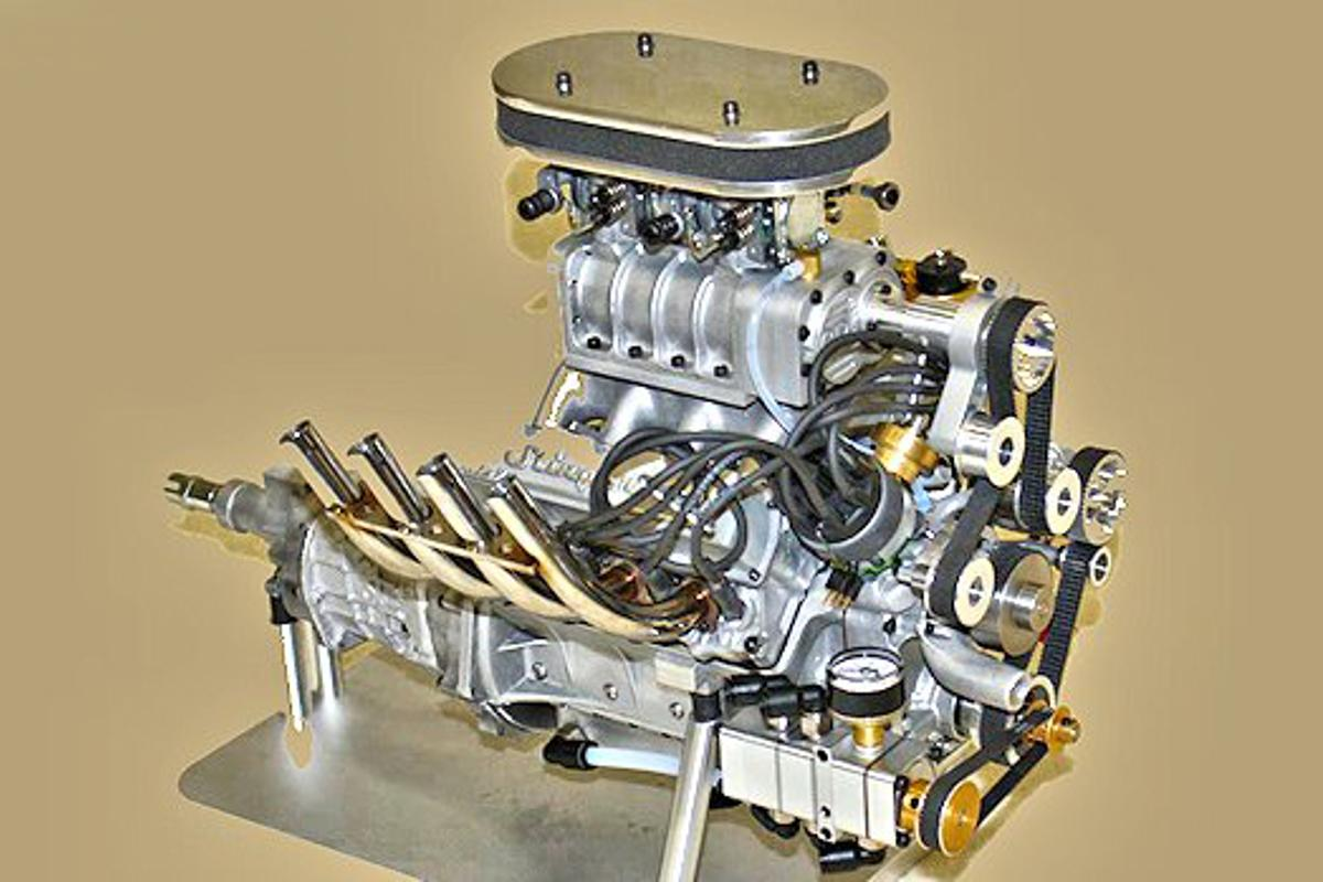 The Conley Stinger 609 supercharged four-cycle V8 gasoline engine - 6.09 cubic inches and 9.5 horsepower at 10,000 rpm (Photo: Conley Precision Engines)