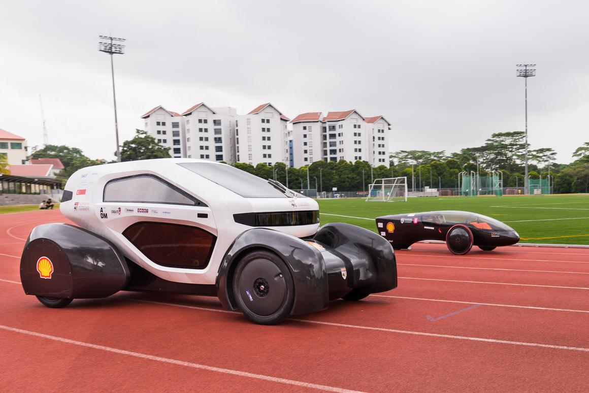 The NV 8 and the bullet-shaped NV 9 will both participate at the Shell Eco-marathon Asia (Photo: NTU)