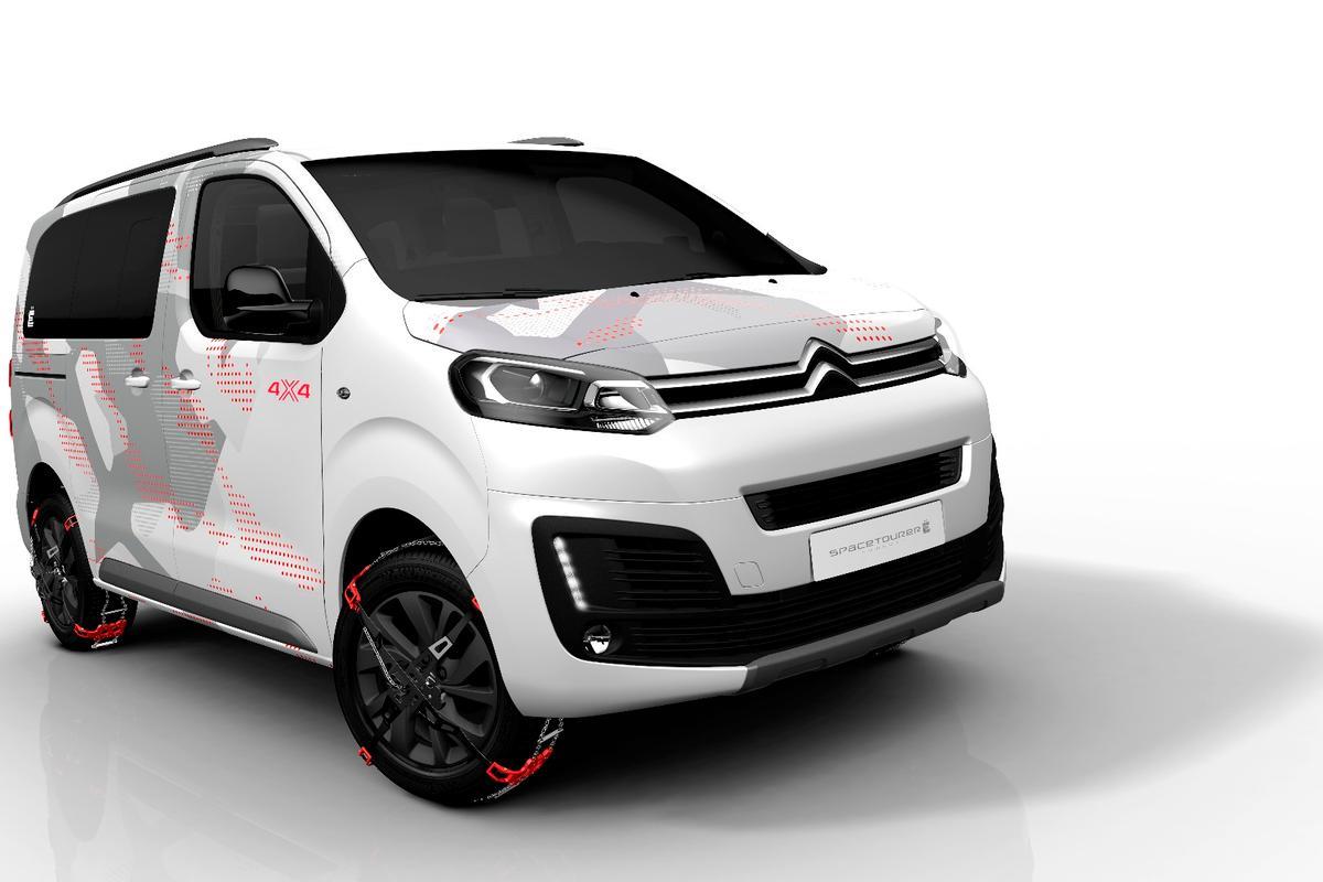 The Citroën SpaceTourer 4X4 Ë Concept has five seats