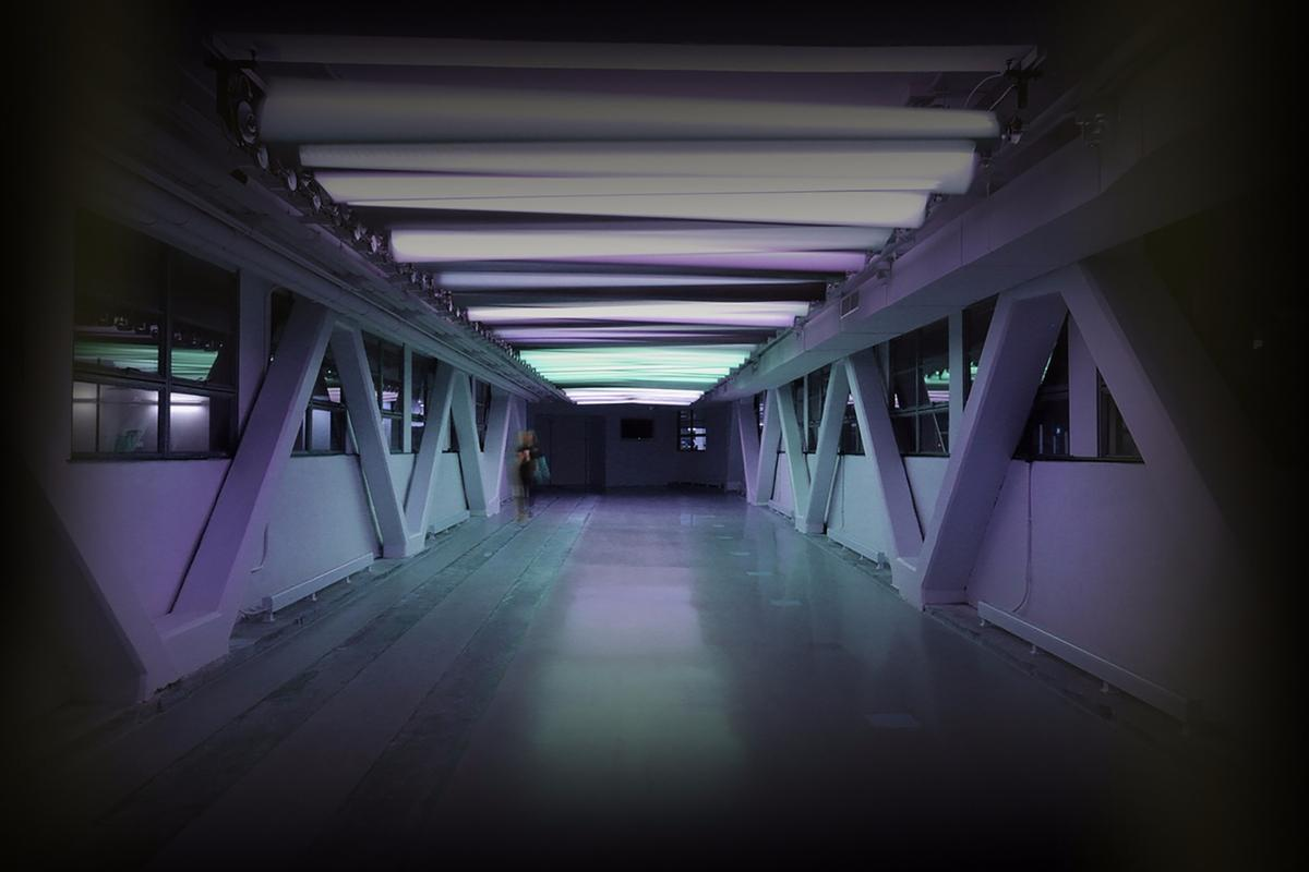 The initial aim of the Prismatic_NYC was to connect the interior of a pedestrian bridge to the outside environment
