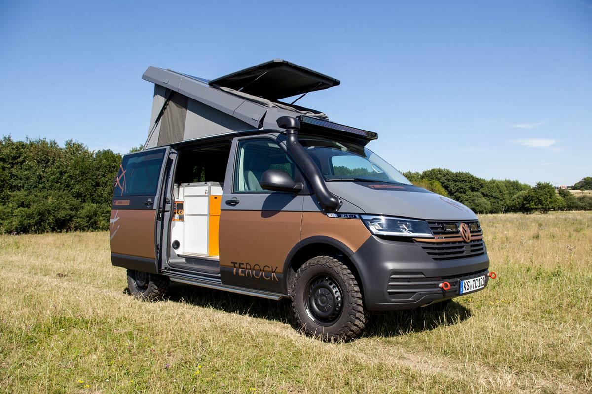 The updated VW T6.1-based Terracamper Terock all dressed up with off-road options