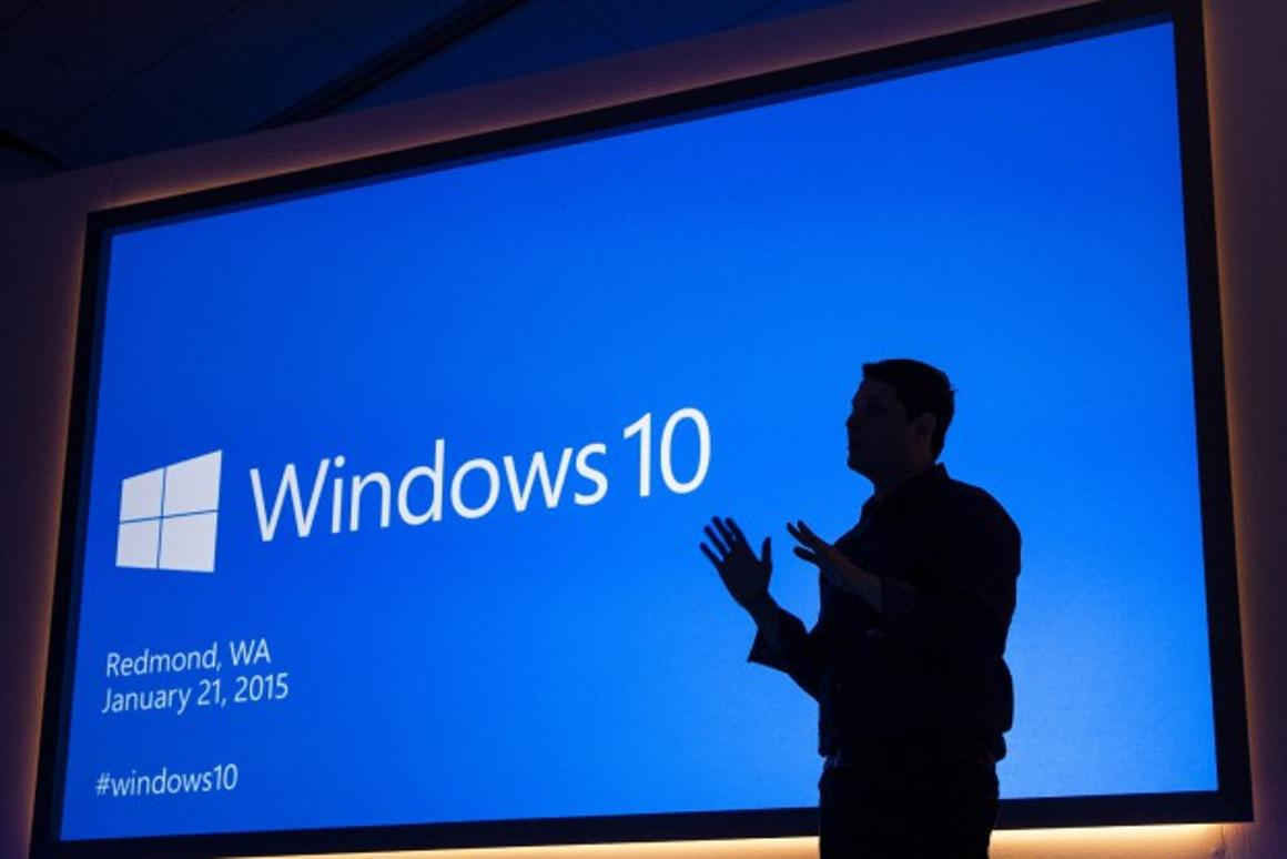 Microsoft previewed Windows 10 at its Washington campus (Credit: Microsoft)