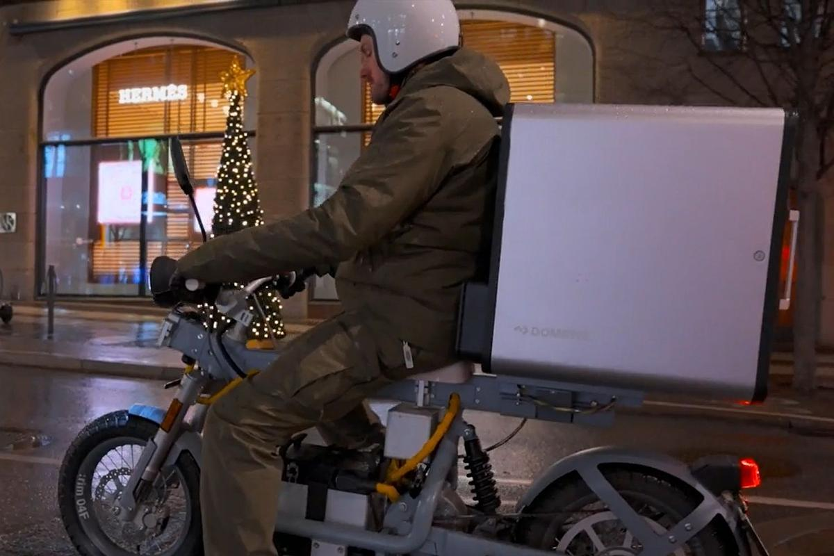 The electric food delivery box has been developed by Cake and Dometic, in collaboration with Favo and Bar Agrikultur