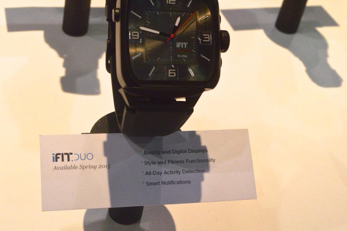 Dual-personality iFit Duo fitness tracker flips between