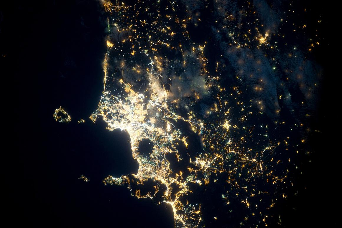 A stunning picture of Naples as taken from the ISS (Image: ESA/NASA)