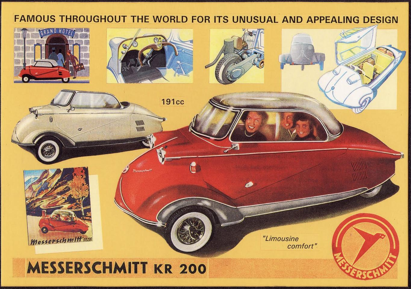 An ad for the original Messershmitt KR200