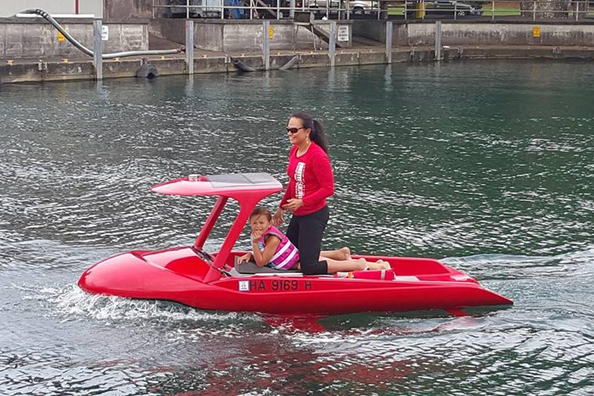 The Aeon Explorer hits the water on the Big Island of Hawaii