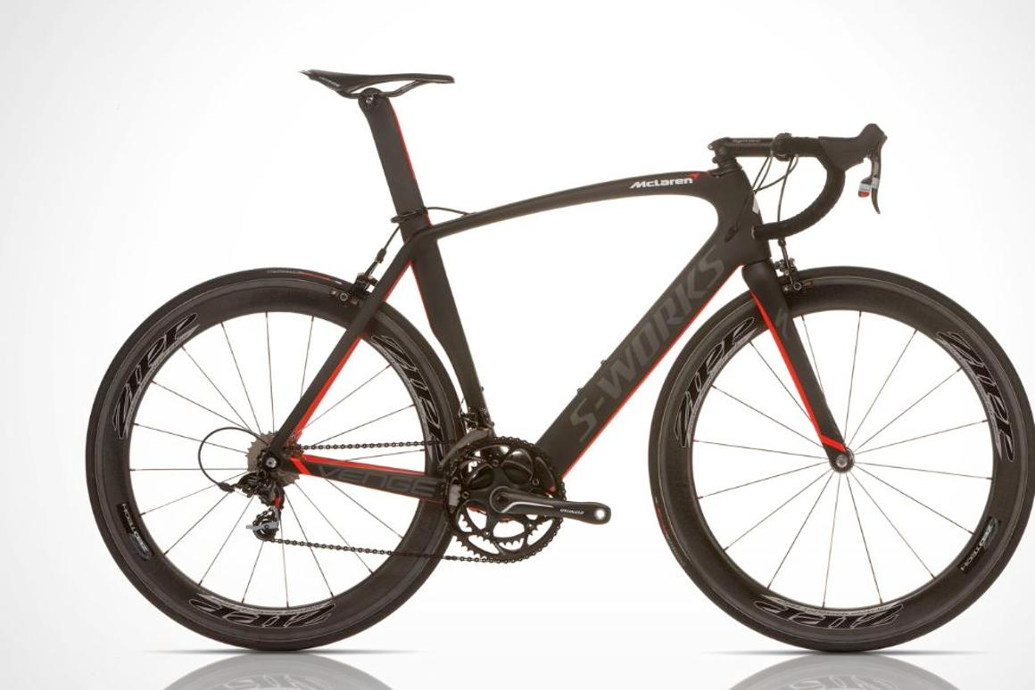 Specialized bikes has teamed up with McLaren Automotive to create the S-Works McLaren Venge road bike (All photos courtesy Specialized)