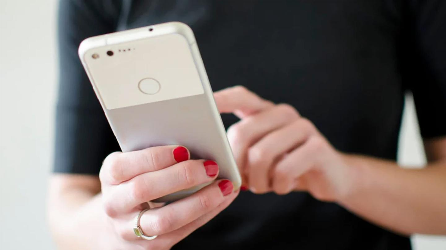 Absorbed in a Google Pixel