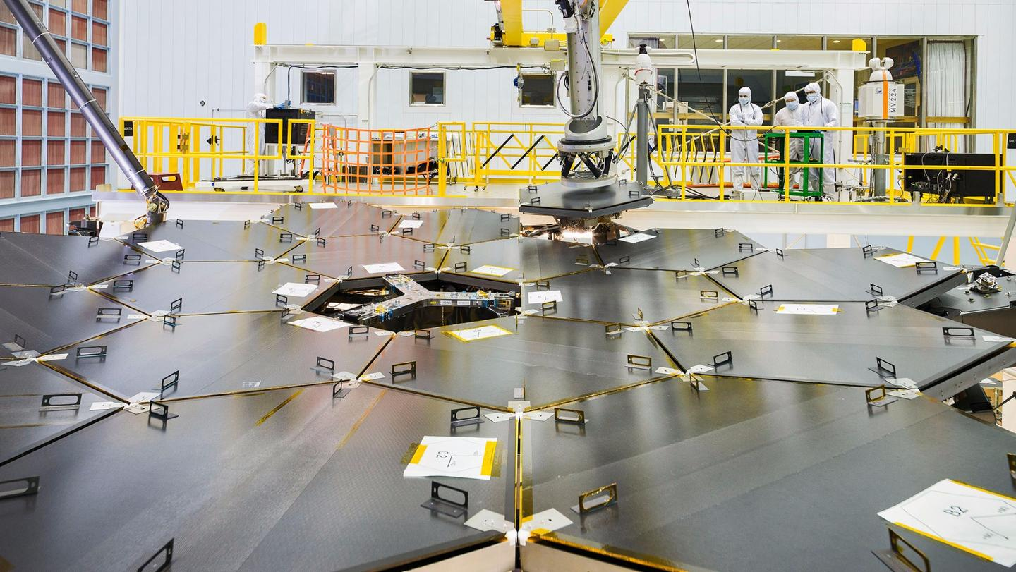 The successful installation of all 18 primary mirror segments marks an important milestone in the construction of the new telescope