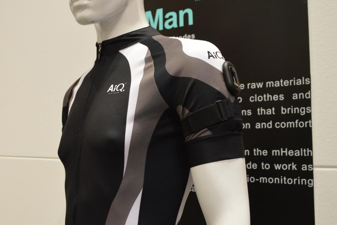 AiQ's BioMan fabric monitors vital signs such as heart rate, respiration and skin temperature