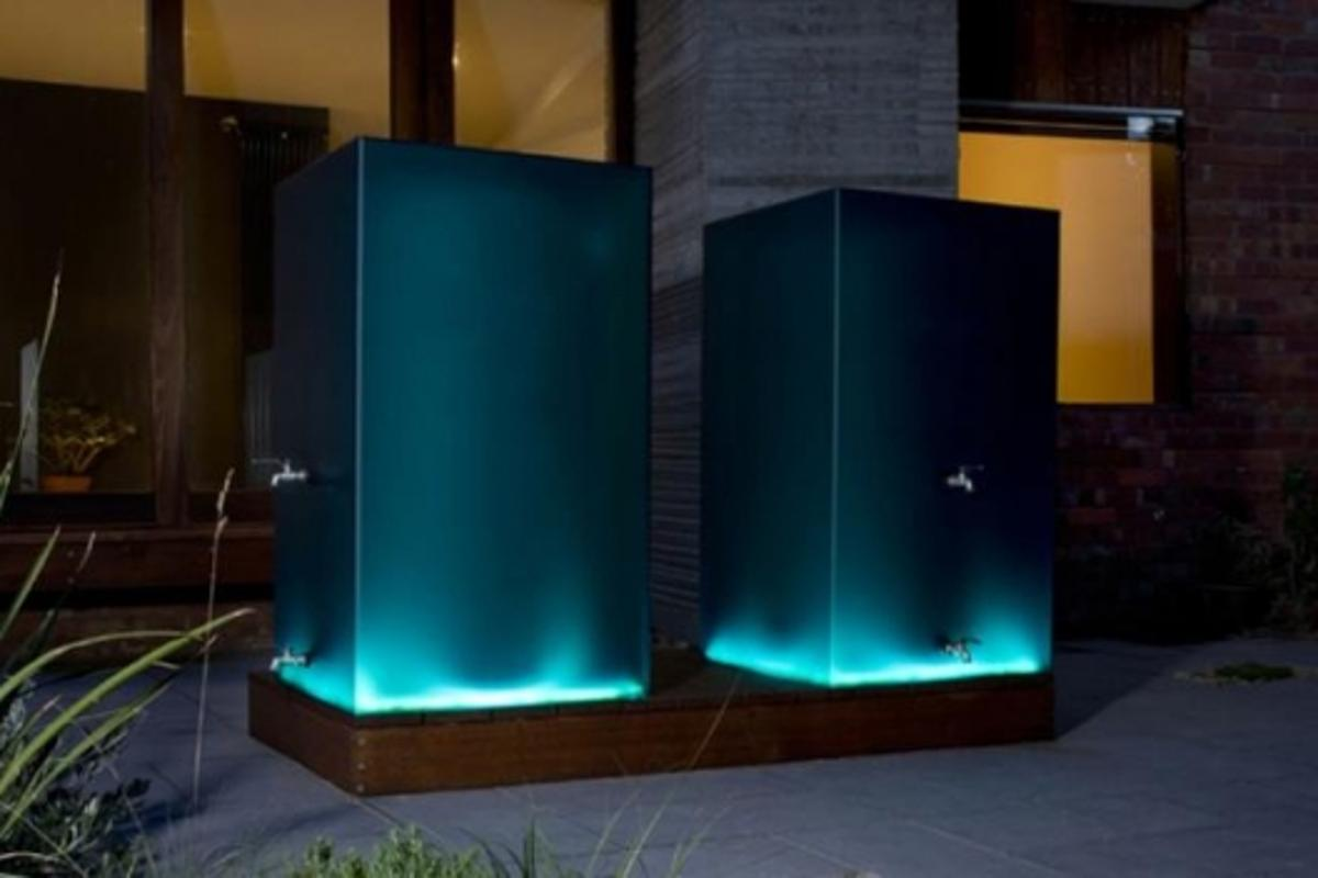 Full Tank's LUMI rainwater storage system lights up at night