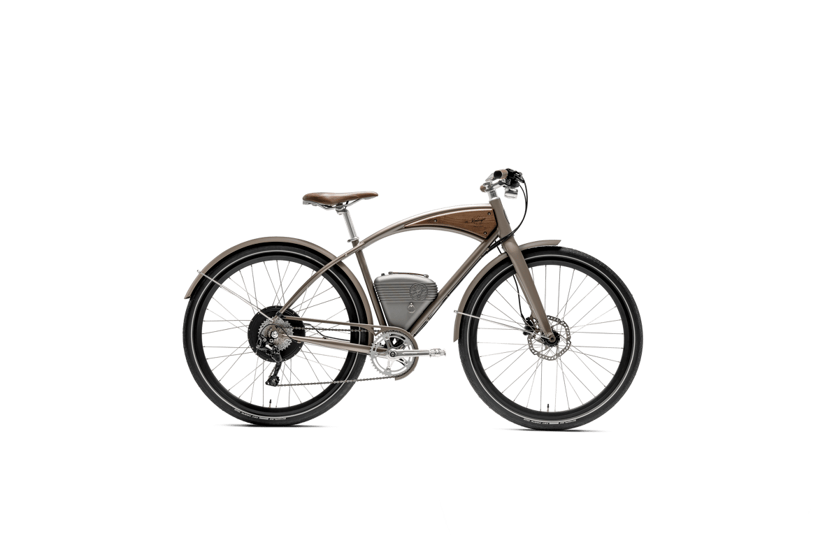 The unashamedly retro 2020 Cafe commuter e-bike in bronze