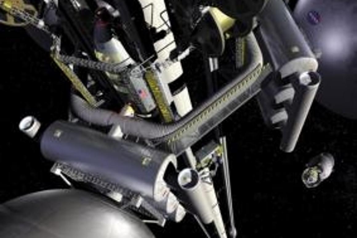 Artist Pat Rawling's impression of a working space elevator Photo: NASA Marshall Space Flight Center (NASA-MSFC)