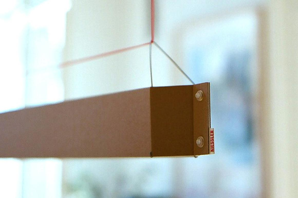 The Numerouno cardboard lamp by Johannes Kiessler