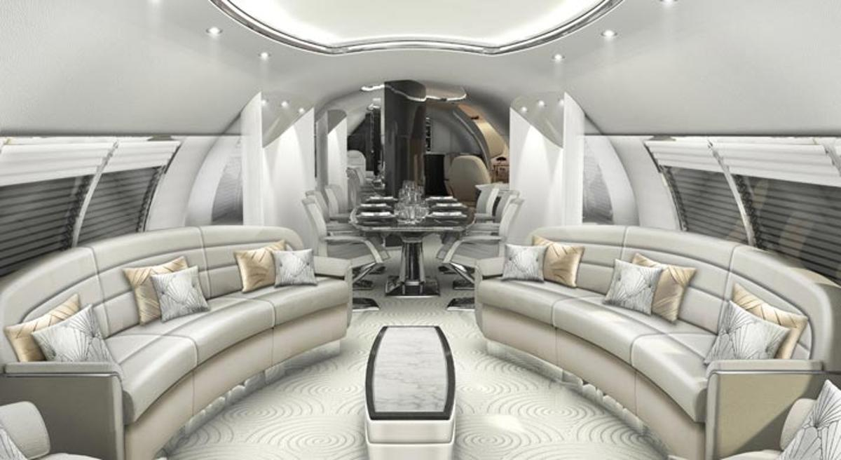 BAE Systems and Design Q have been working on some luxury concept plane interiors in the Avro Business Jet Explorer range (Credit: Design Q)