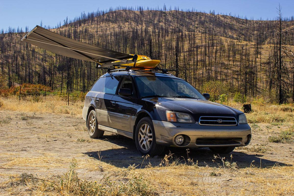 Nomad presents a legless, quick-pull spin on the basic car awning