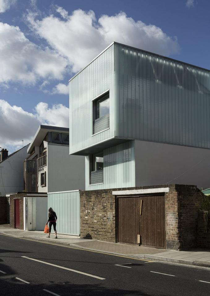 Slip House, by UK-based Carl Turner Architects, fits neatly between a row of terraced houses in Brixton, London