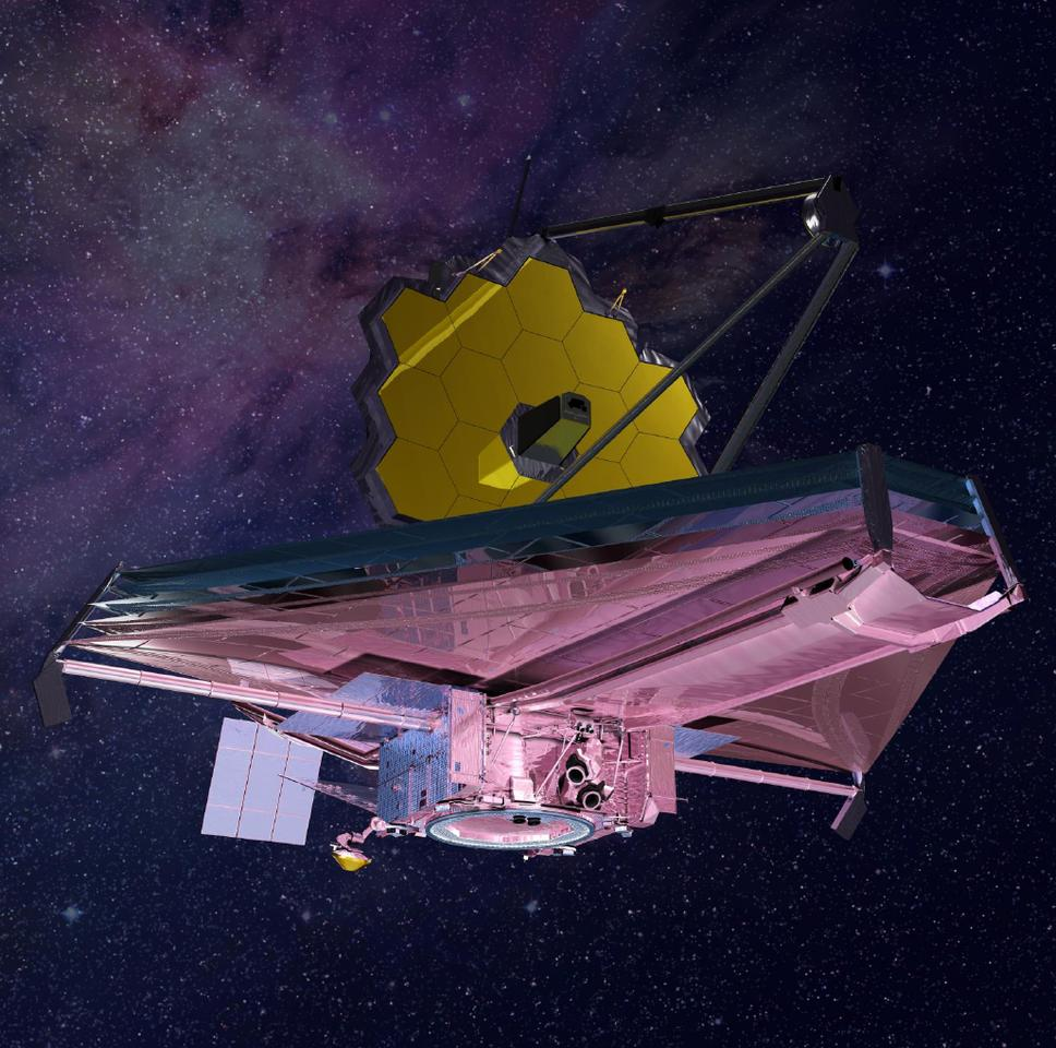 Artist's impression of the James Webb Space Telescope in orbit