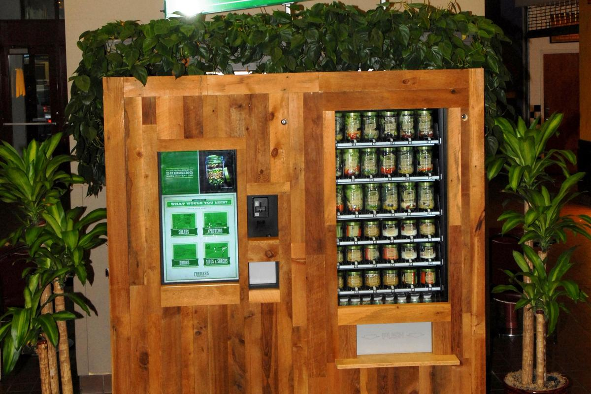 Farmer's Fridge is a healthy food kiosk