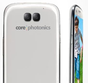 A mock-up of a Corephotonics-equipped smartphone