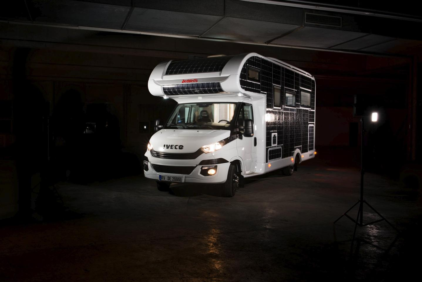 Dethleffs plays with the concept of an all-electric Type C motorhome