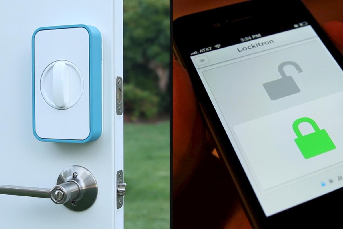 The Lockitron works with any mobile phone