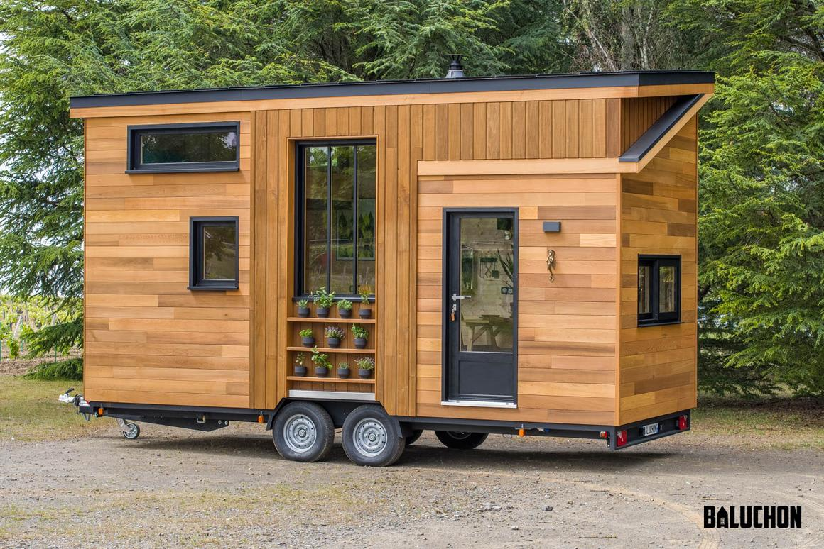 The Astrild Tiny House is much smaller than most of the models we report on in the United States but still fits in a family of three