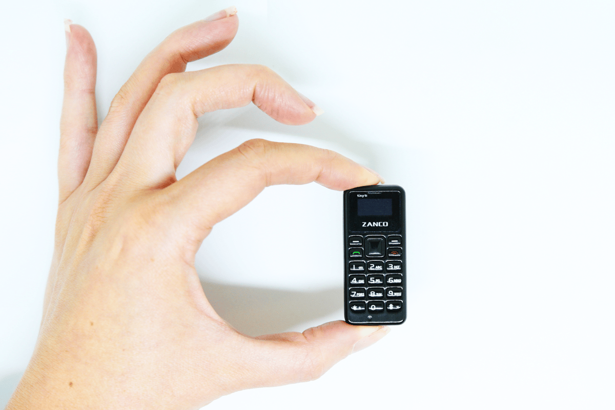 The Zanco tiny t1 is claimed to be the smallest working phone ever made